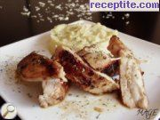 Chicken with tarragon and mashed celery