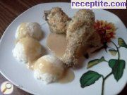 Coconut chicken legs with sauce Grape