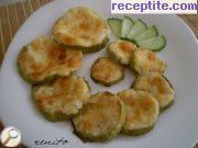 Zucchini with mayonnaise and cheese