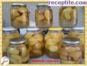 Compote of peeled peaches
