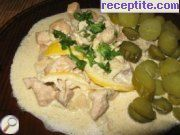 Chicken with cream and beer
