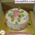 снимка 2 към рецепта Еклерова торта с два крема