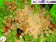 Rich salad with French dressing