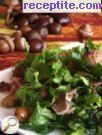 Salad with spinach, chestnuts and prosciutto