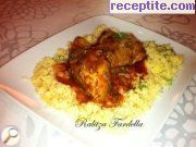 Lamb's leg with grape juice and tomatoes