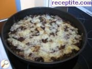 Minced meat with vegetables in the oven