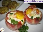 recipe photo 3 Eggs in a basket of bacon