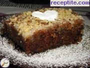 Walnut cake with apples and cinnamon
