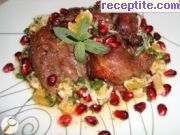 Lamb with fruit juice