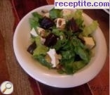 recipe photo 2 Green salad with beets, walnuts and melted cheese