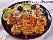 Fried fish with garlic and cheese