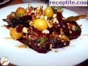 Red Beet Salad with walnuts