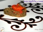 Salad of roasted eggplant and peppers - II type