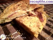 Omelet with smoked ham