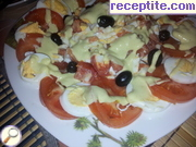 Tomato salad with boiled eggs