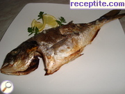 Sea bream with garlic-lemon butter