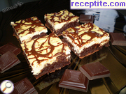 Marble cake with cream cheese