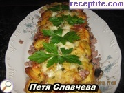Moussaka with fried potatoes