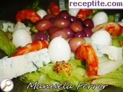 Iceberg with shrimp and quail eggs