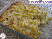 Gratin potatoes and melted cheese
