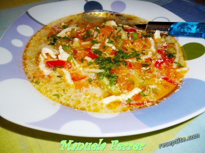 Снимки към Пилешка супа с аспержи и тиква
