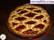 Pie with homemade jam