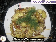 Potatoes with mayonnaise and seeds