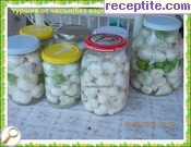 Pickle of fresh garlic (without boiling)