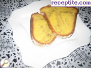 Sponge cake with orange juice