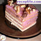 Biscuit layered cake with cream