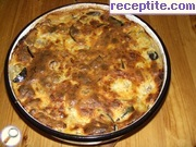 Moussaka with potatoes and eggplants