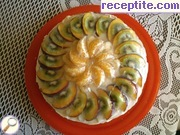 Tart with vanilla cream