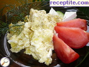 Fried peppers with cottage cheese