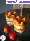 Dessert with yogurt and peaches