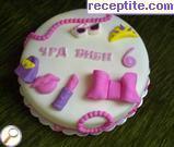 снимка 201 към рецепта Медено-захарно тесто за украса на торти