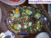 Appetizer with potatoes and quail eggs