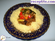 Knuckle with vegetables in aromatic sauce