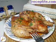 Roasted marinated chicken legs