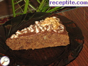 Chocolate slices with peanut and coffee