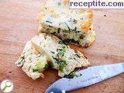Baked ricotta with green onions