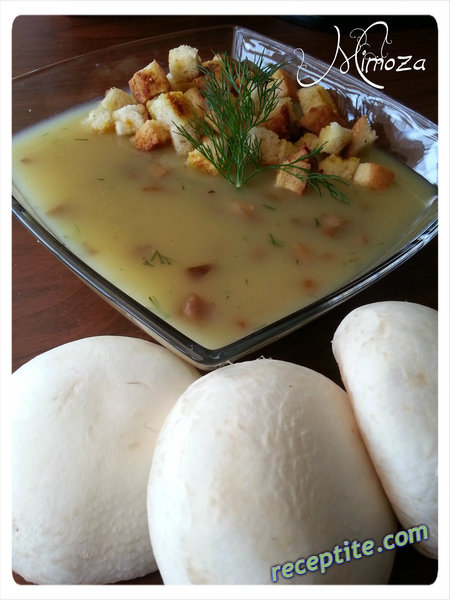 Снимки към Картофена крем-супа с гъби