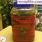 Steamed pickled red peppers