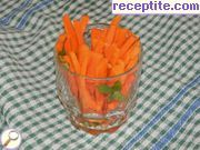 Fragrant carrot salad with nuts and ginger