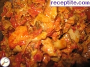 Chicken and pork with vegetables