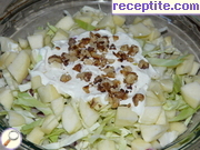French salad with apples and cabbage