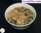 Chicken soup with gnocchi