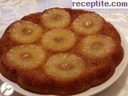 Invert cake with pineapple