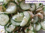 Salad with cucumber and ginger