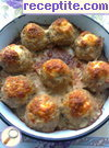 Nests of minced meat with boiled eggs