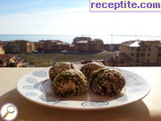Spinach balls in sesame